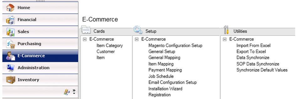 Complete E-Commerce solution for Microsoft Dynamics GP (Great Plains) using Magento E-Commerce