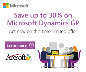 AccSoft matches Microsoft promotions by offering a discount on the consulting and Fast Implementation Bundles.