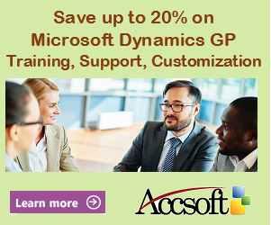 Save up to 20% on Dynamics GP Training, Support and Customization