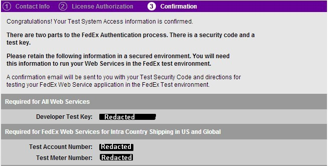 FedEx Confirmation