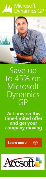Save big on Microsoft Dynamics GP purchase and Implementation with AccSoft